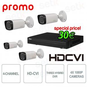KIT Promo Registratore Dahua in... Setik PROMO_DAHUA_3 Kit Videosorveglianza HD-CVI
