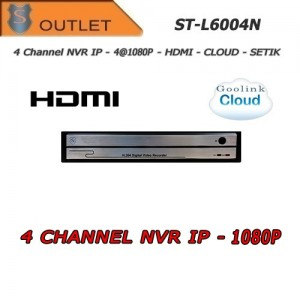 Nvr 4 Canali IP 1080P Hdmi Cloud... Setik ST-L6004N_OUTLET Outlet