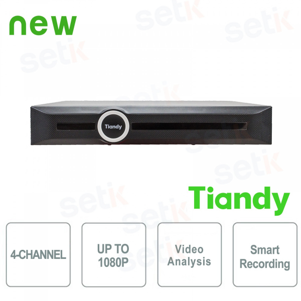 NVR 4-Channel 1080P 1HDD Video Analysis and Smart Recording - Tiandy