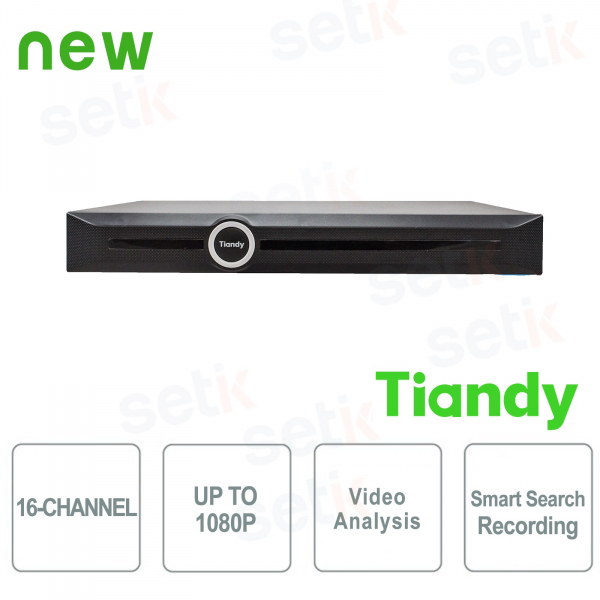 NVR 16 Canali 1080P 2HDD Video Analisi e Smart Search&Recording - Tiandy
