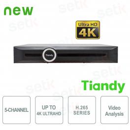 NVR 5 Canali 4K ULTRA-HD H.265 Video Analisi Smart Search&Recording - Tiandy