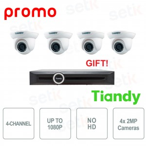 Kit 4 Telecamere IP Dome 2MP... Tiandy TIANDY_2 Kit Videosorveglianza