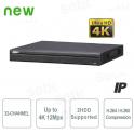 NVR IP 32 Canali 4K Ultra-HD 12Mpx 320Mbps H.265 - Serie Pro - Dahua