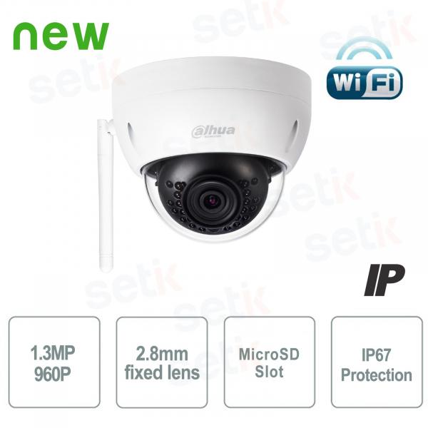 Telecamera IP Mini Dome WiFi 1.3MP 2.8mm IK10 - Dahua