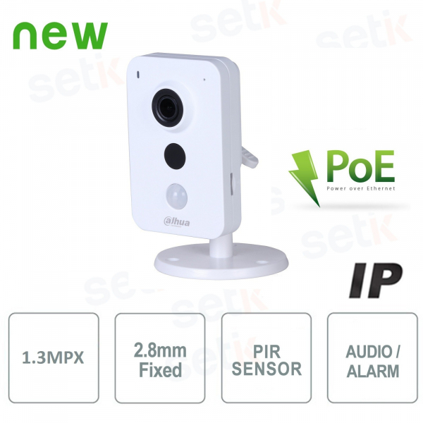 IP Camera 1,3MP 2.8mm IR Audio Alarm PoE - Dahua