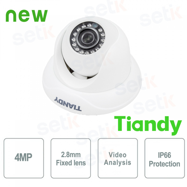 IP Mini IR Dome Camera 4MPX 2.8mm Video Analysis WDR - Tiandy