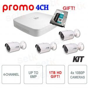 Kit Promozionale IP PoE Dahua 4... Dahua Technology KIT-IPC-4CH-DAHUA IP