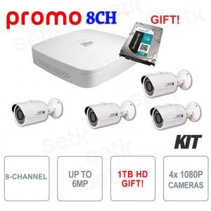 Kit Promozionale IP PoE Dahua 8... Dahua Technology KIT-IPC-8CH-DAHUA IP