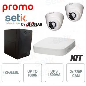 Kit Dahua Promo 4 Canaux avec 2... Setik KIT4HD-PROMO-SETIK KIT de vidéosurveillance
