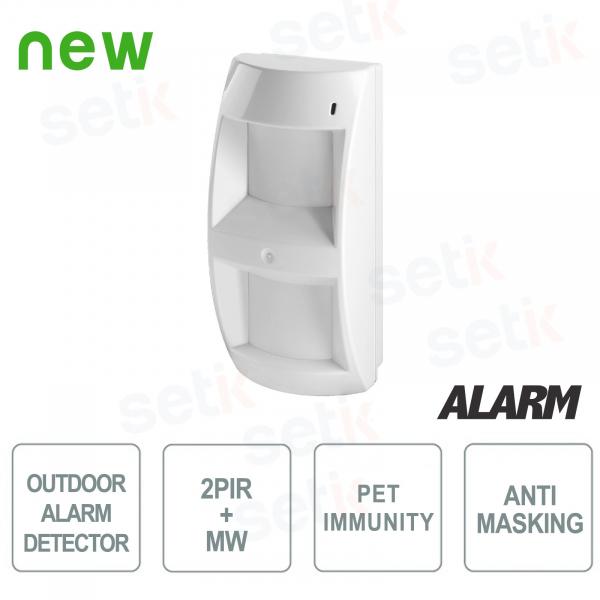 Sensore da esterno tripla tecnologia 2PIR + MW  con Pet Immunity - AMC