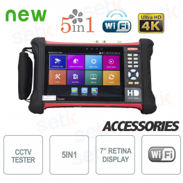 "Tester IP 4K 5in1 7"" Retina Touch Screen WiFi H.265 - Setik"