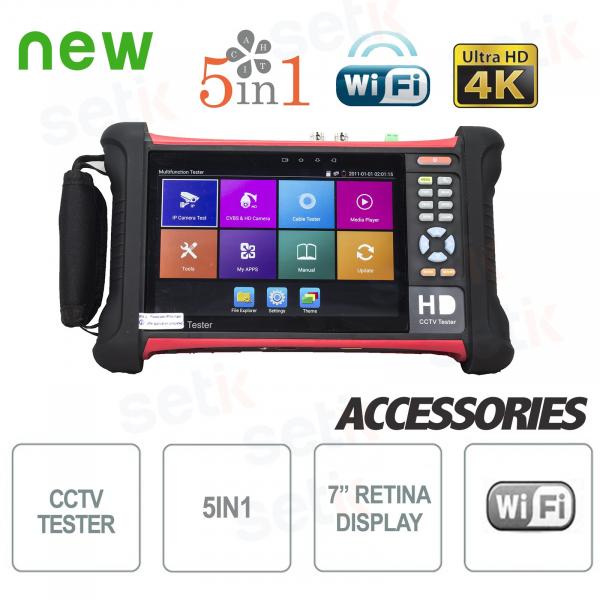 "Tester IP 4K 5in1 7"" Retina Touch Screen WiFi H.265 - Setik"