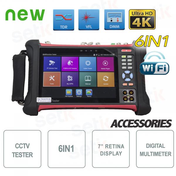 "Tester IP Professionale 4K 6in1 7"" Retina H.265 WiFi Multimetro - Setik"
