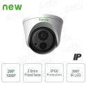Telecamera IP esterno IR Infrarossi 1080p Dome hd sorveglianza
