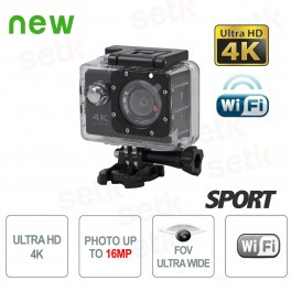 Telecamera Sportiva ULTRA HD 4K FishEye Foto e Video Waterproof WiFi - Setik