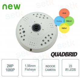 "Telecamera Ibrida 4in1 ""Ahd/Tvi/Cvi/Analogica"" fino a 1080P Fisheye 1.56mm - Setik"