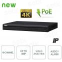 NVR IP 16 Channels H.265 4K ULTRA-HD 8MP Audio PoE Alarm - Dahua