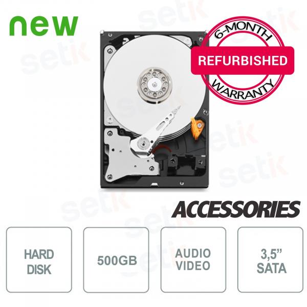 """Hard Disk HD 500GB 3.5"""" - Rigenerato con Garanzia - Alta Qualità"""