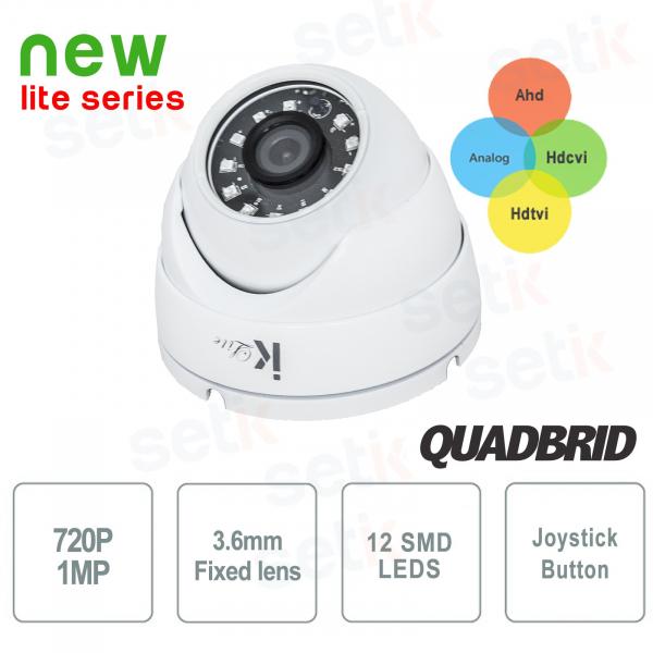 Dome Camera 4in1 720P HD Analog + Ahd + Tvi + Cvi 3.6mm SMD - Lite Setik
