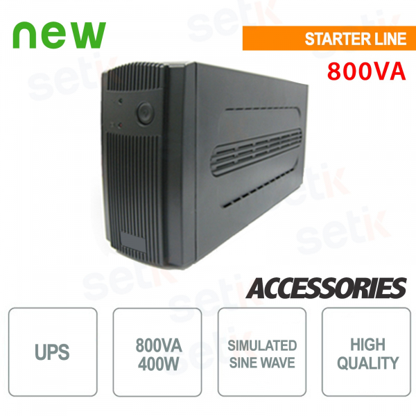Uninterruptible Power Supply UPS 800VA / 400W Monophase