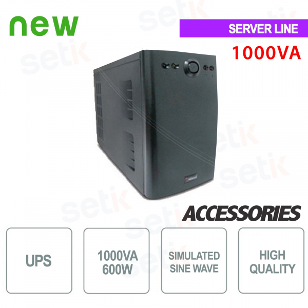 Uninterruptible Power Supply UPS 1000VA / 600W Monophase