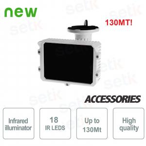Illuminatore Telecamera 18 LED... Setik LEDIR130 Illuminatori IR