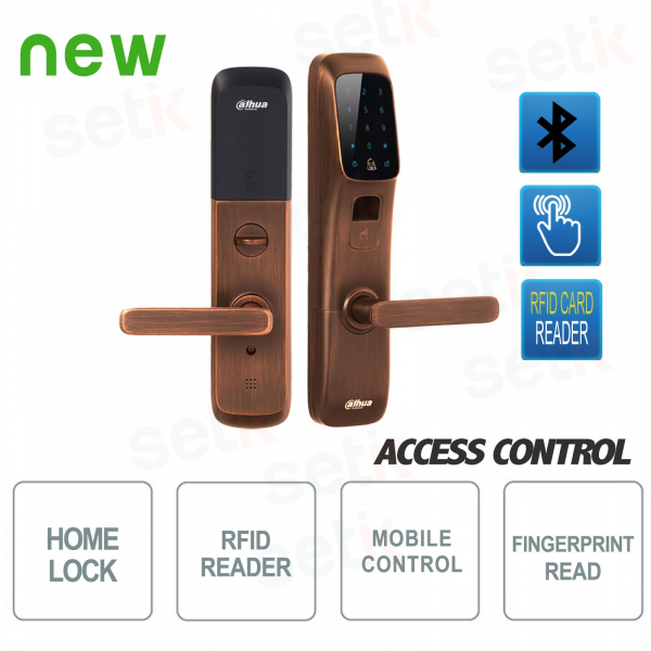 Serratura intelligente Bluetooth con lettore impronte e RFID - Dahua