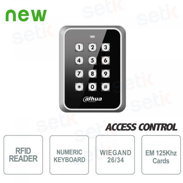 Lettore RFID EM 125KHz Wiegand con tastiera - Dahua