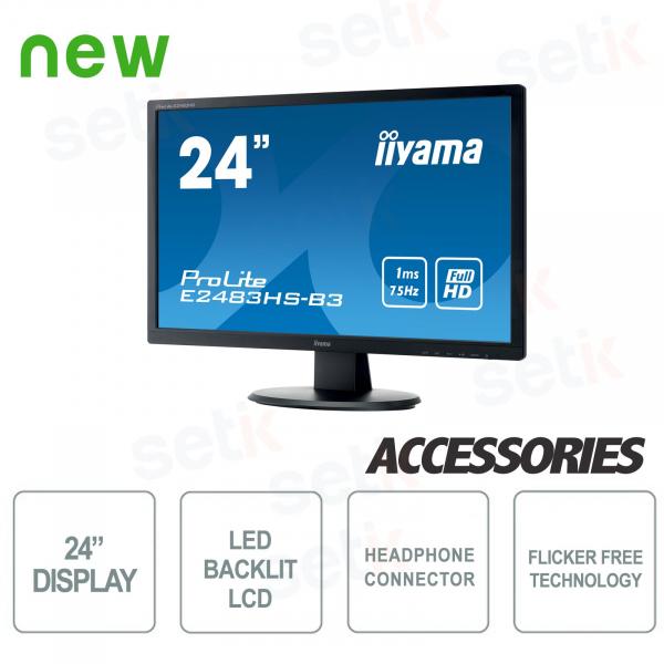 """ProLite 24 """"Monitor Full HD con luz azul Altavoz y auriculares - IIYAMA"""