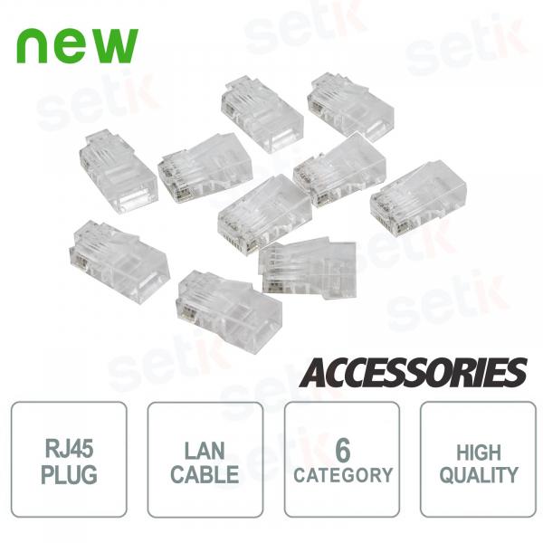 10x RJ45 PLUG connectors for CAT6 lan cables - SETIK