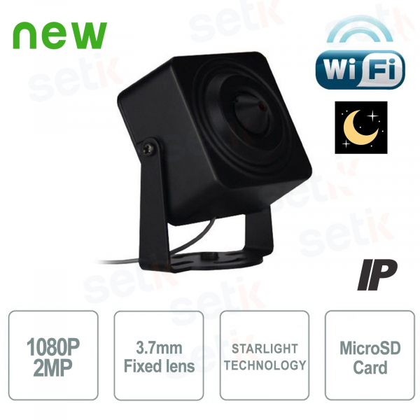 IP Network Hidden Camera WiFi 2MP 3.7mm Starlight MicroSD Audio Alarm - Setik