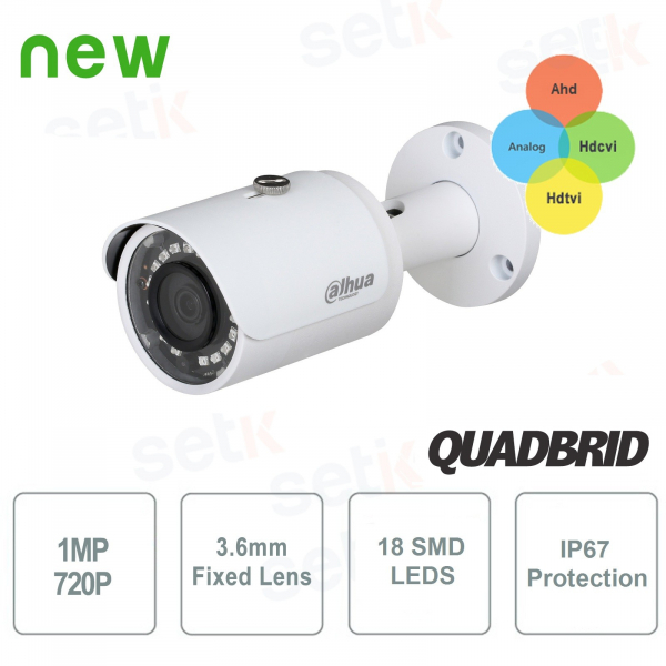 4in1 HD CVI Bullet Camera 720P 3.6mm - Lite Dahua