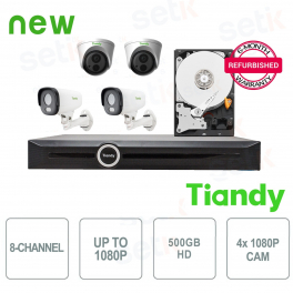 KIT Speciale Tiandy 4 Telecamere + NVR e HD