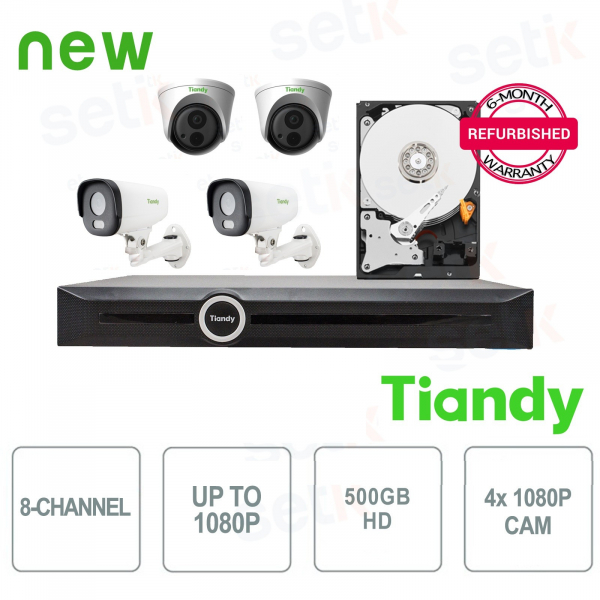 Tiandy Special KIT 4 Cameras + NVR and HD