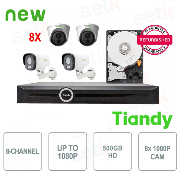 Tiandy Special KIT 8 Cameras + NVR and HD
