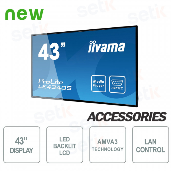 "43 ""LCD Monitor Prolite 1080P FULL-HD Speakers - IIYAMA"