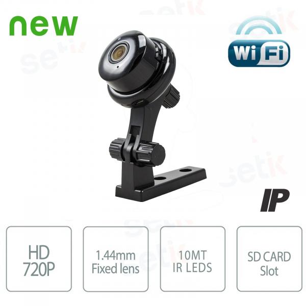 HD 720P 1MP hidden button spy wifi camera - 180° - Microphone and speaker - Setik