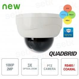 Mini Dome PTZ AHD 1080P CVI TVI ANALOGICA 3X IR - Setik