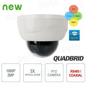 Mini Dome PTZ AHD 1080P CVI TVI... Setik PTZHYBIR3X2M Telecamere