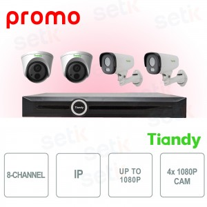 Kit Videosorveglianza NVR 8... Tiandy TIANDY-WITH-LOVE Kit Videosorveglianza IP