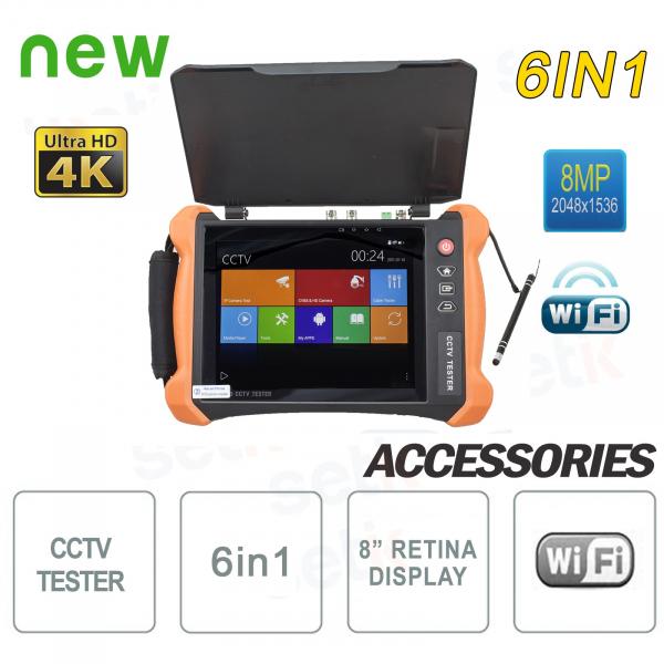 "Tester Professionale 6in1 8"" 4K 8MP H.265 WiFi - Setik"