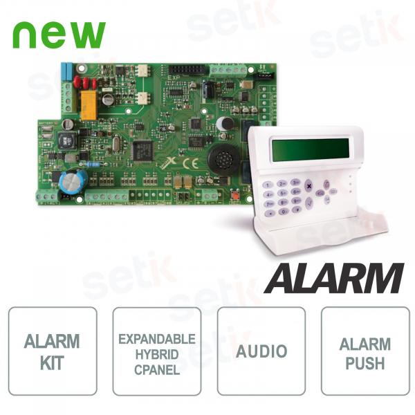 Alarm Central Kit 4 expandable inputs 16 + Keyboard - AMC