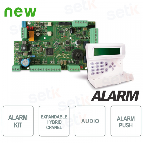 Alarm Central Kit 8 expandable inputs 32 + Keyboard - AMC