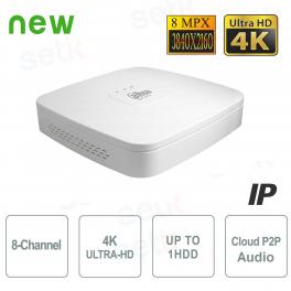 NVR 8 Canali IP 4K 8MPX ULTRA-HD H.265 Audio - Dahua