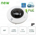 Telecamera IP Wireless 4MP H.265 Fisheye Audio Allarme PoE - Setik