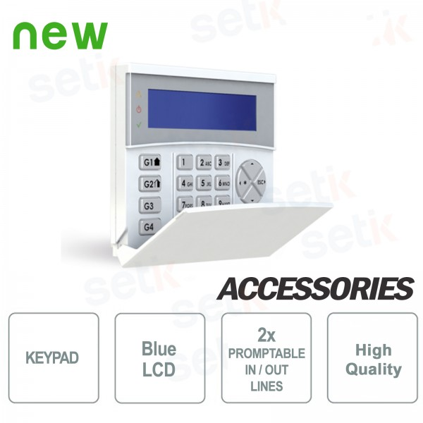 BLUE Backlit LCD Keyboard - AMC
