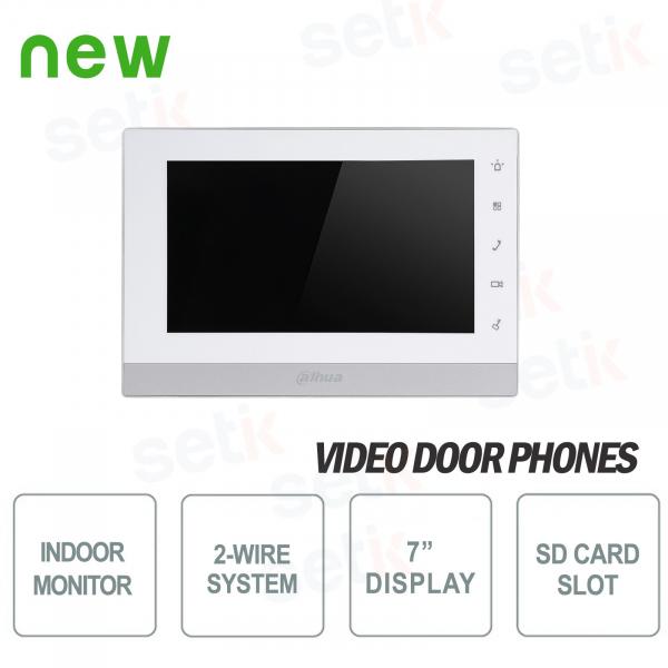 """Postazione Interna Bifilare 7"""" Touch Slot SD Allarme - Dahua"""