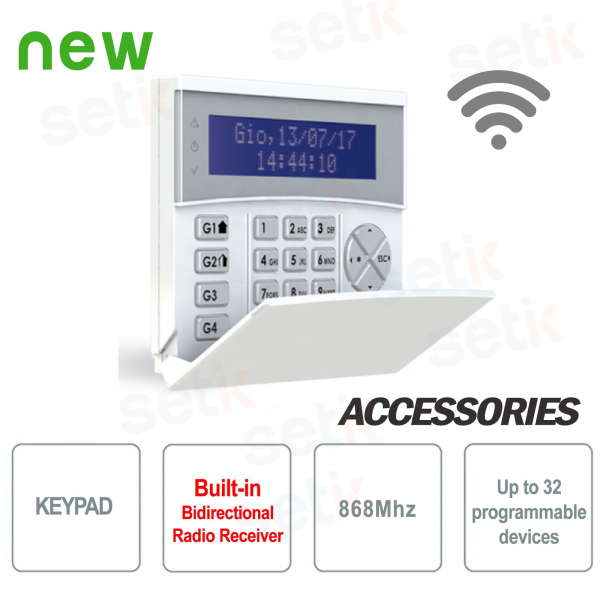 Keyboard with integrated 868 MHz radio receiver - AMC