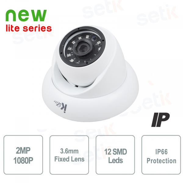 Dome IP 2 Mpx Onvif Cloud 3.6mm Camera - Setik