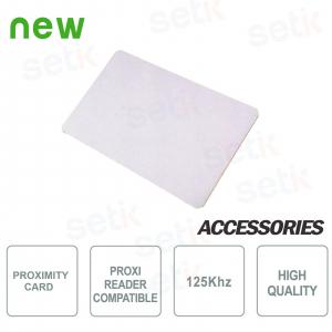 Carte RFID 125Khz pour lecteurs... Setik KEYCARD-125K Tag de Proximité